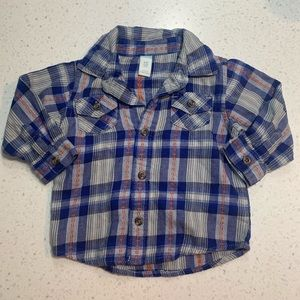 5/$20 Old Navy long sleeve button plaid